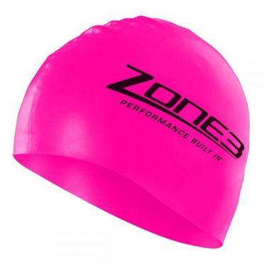 Zone3 Silicone swim cap roze