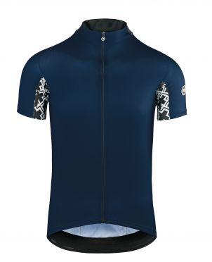 Assos Mille GT korte mouw fietsshirt blauw heren