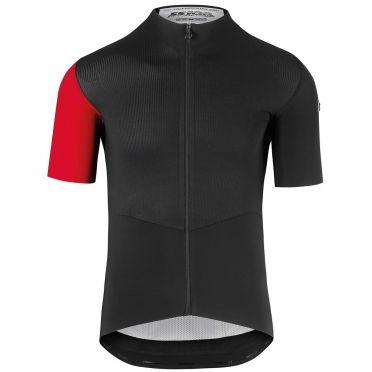 Assos SS.cento evo8 korte mouw fietsshirt zwart/rood heren