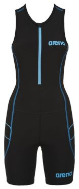 Arena ST front zip mouwloos trisuit zwart dames