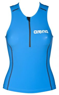 Arena ST mouwloos tri top blauw dames