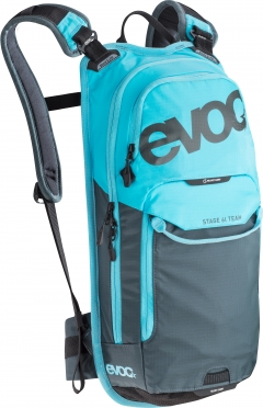 Evoc Stage team 6L + 2L badder rugzak blauw