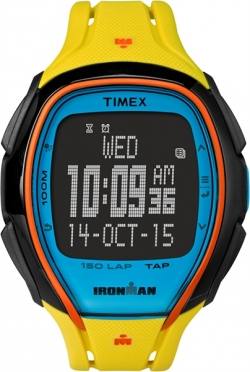 Timex Sleek 150 sporthorloge Block geel 46mm