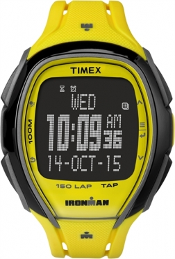Timex Sleek 150 sporthorloge neon geel 46mm