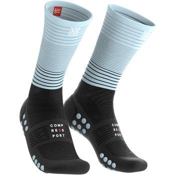 Compressport mid compressie sokken Oxygen zwart/blauw