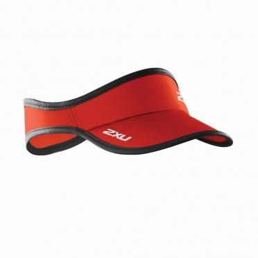 2XU Run Visor zonneklep rood
