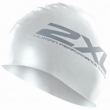 2XU Siliconen swim cap wit