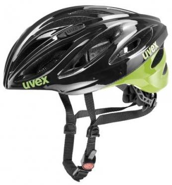 Uvex Boss Race Fietshelm zwart/groen