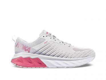 Hoka One One Arahi 3 hardloopschoenen wit/roze dames