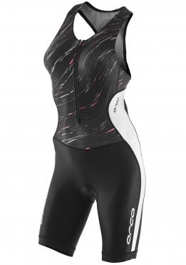 Orca Core race mouwloos trisuit zwart/wit dames