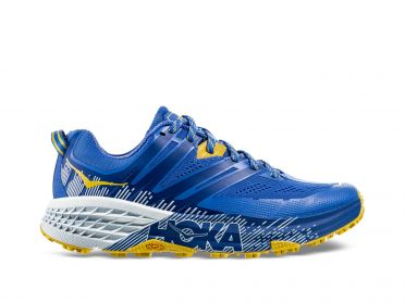 Hoka One One Speedgoat 3 trail hardloopschoenen blauw/geel dames