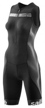 Sailfish Competition trisuit zwart/grijs dames