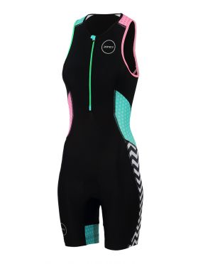 Zone3 Activate plus mouwloos trisuit Zebra fly dames