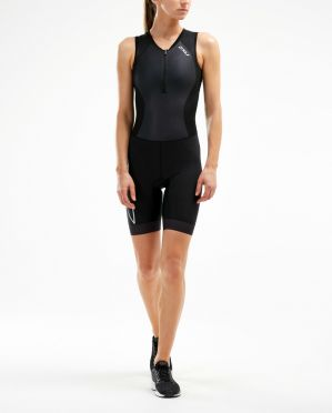 2XU Compression mouwloos trisuit zwart dames