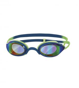 Zoggs Fusion air gold mirror zwembril groen/blauw