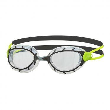 Zoggs Predator transparante lens zwembril zwart/groen