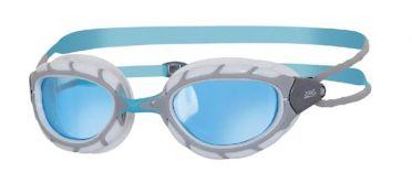 Zoggs Predator blauwe lens zwembril grijs/wit