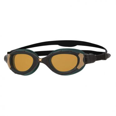 Zoggs Predator Flex Polarized Ultra Reactor zwembril zwart/goud