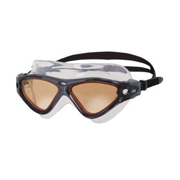 Zoggs Tri-Vision Mask zwembril zwart - oranje lens