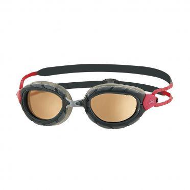 Zoggs Predator polarized ultra zwembril zwart/rood