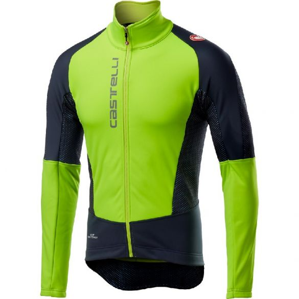 Castelli Mortirolo V jacket geel/zwart heren  18505-321
