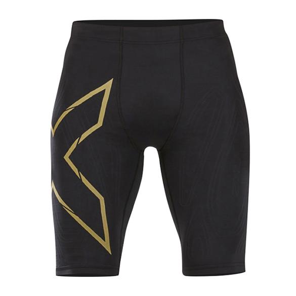 2XU MCS Run Compressie shorts zwart/goud heren  MA5331b-BLKGRF