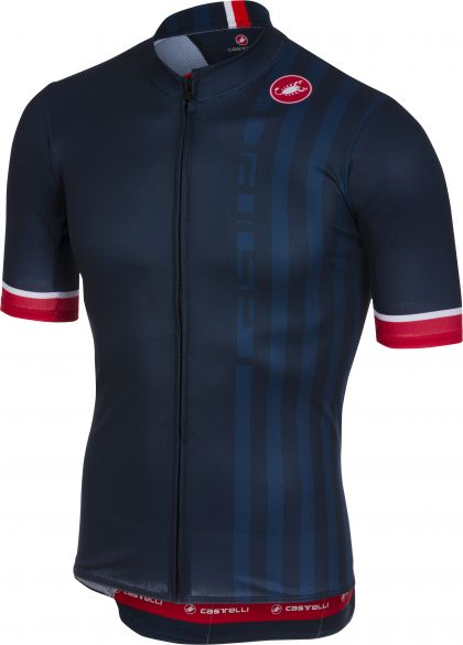 Castelli Podio doppio fietsshirt donker blauw heren  18006-041