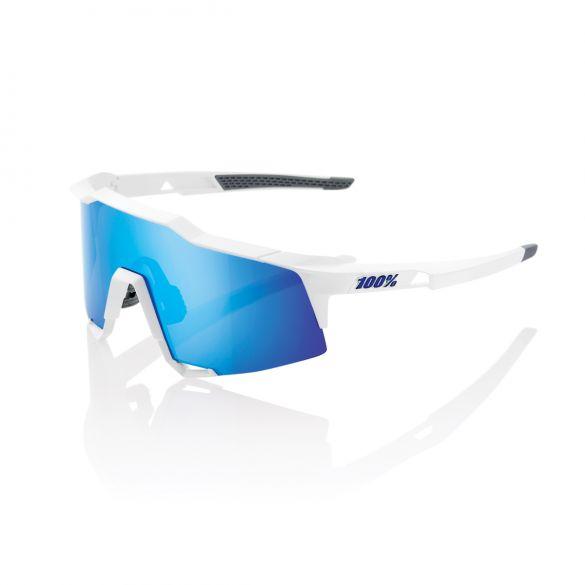 100% Speedcraft fietsbril wit met hiper lens blauw  18/61001H-000-75