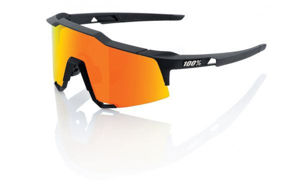 100% Speedcraft fietsbril zwart met hiper lens oranje  18/61001H-100-43