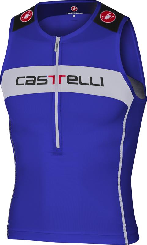 59a1d894ea0 Castelli Core tri top blauw/wit heren