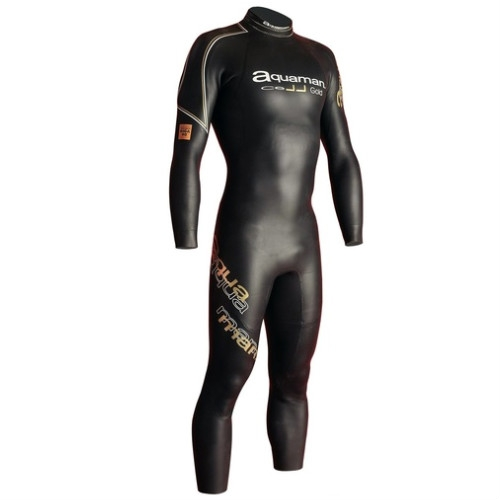 Aquaman Cell gold lange mouw wetsuit heren  AGOL19