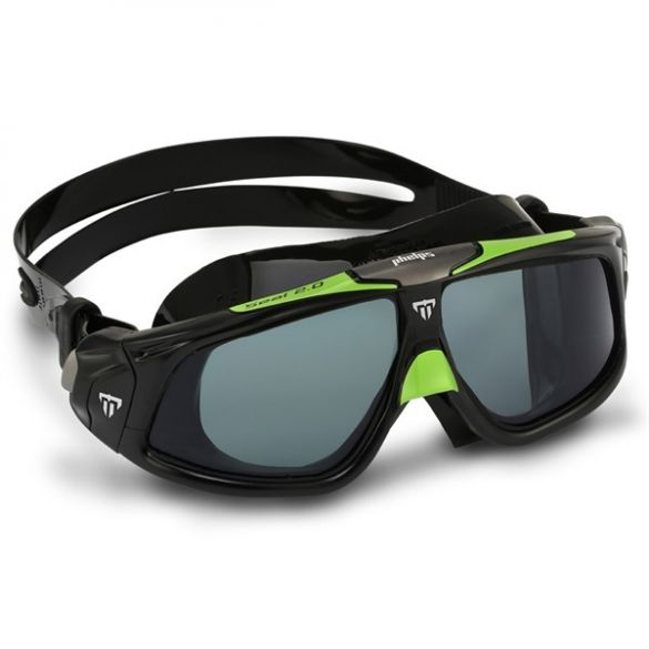 Aqua Sphere Seal 2.0 Smoke lens zwembril zwart/groen  ASMS1590103LD