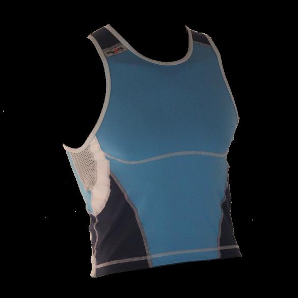 Ironman tri top mouwloos new olympic blauw heren  IM8503-50/41