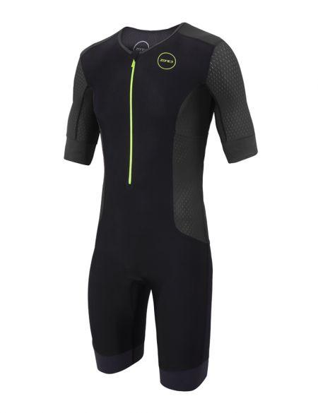 Zone3 Aquaflo plus korte mouw trisuit zwart heren  TS18MAQPS104