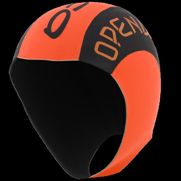 Orca Neopreen swim cap zwart/oranje  DVAC54