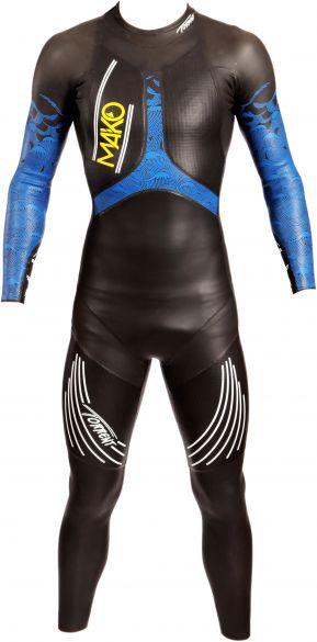 Mako Torrent lange mouw wetsuit zwart/blauw heren  151001