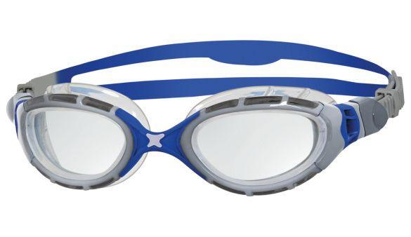 Zoggs Predator flex 2.0 zwembril zilver/blauw  332848